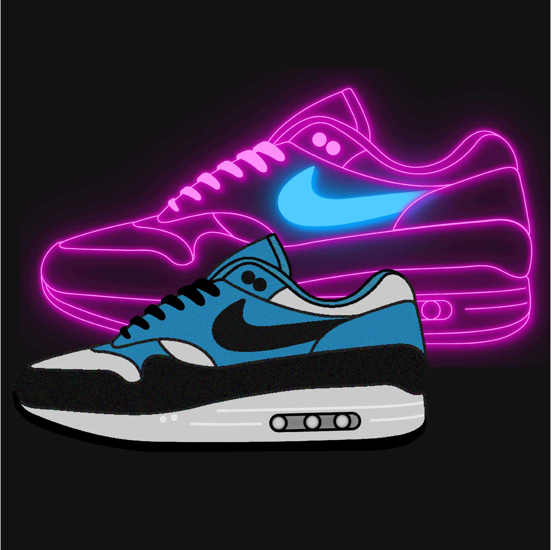Illustrations de chaussures Nike